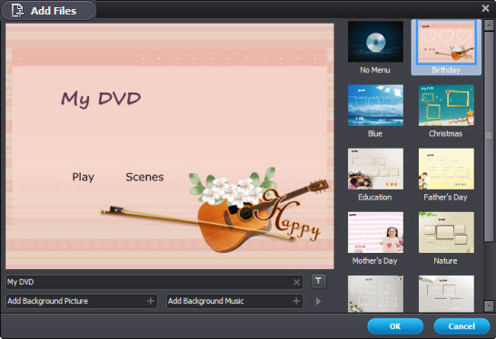 burn iTunes video to DVD with menu