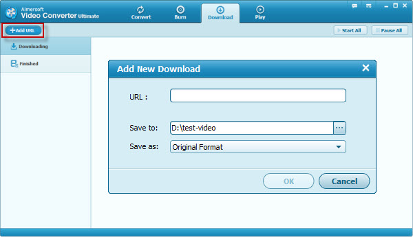 download online videos with aimersoft video converter ultimate